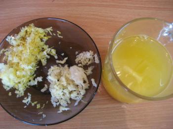 лимонный сок и чеснок