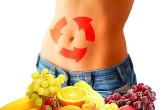 фрукты и живот девушки