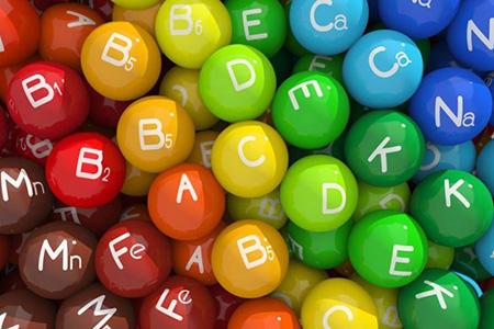 шарики с названиями витаминов и минералов